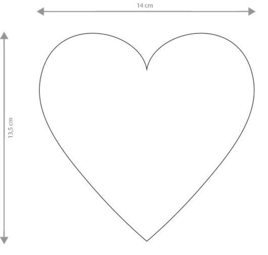 Molde de coração grande