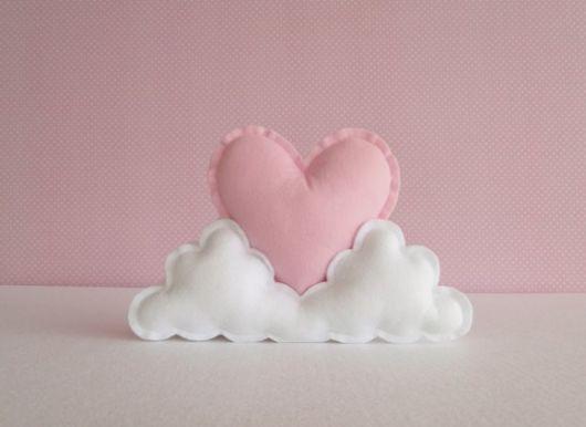Molde de coração de feltro