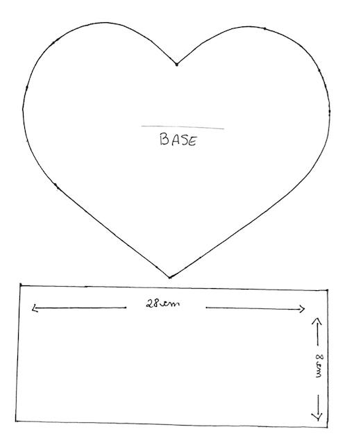 Molde de coração de EVA