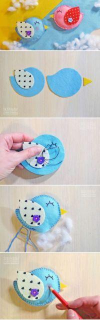 como fazer artesanato em feltro passo a passo