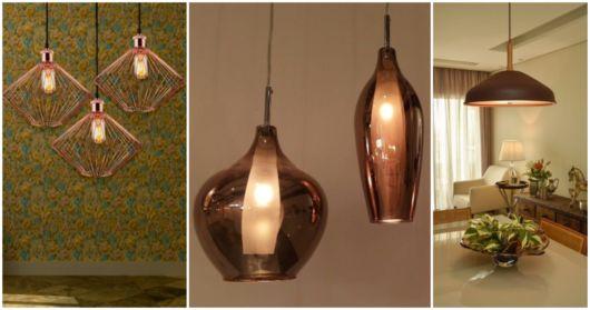 Pendentes lindos de cobre