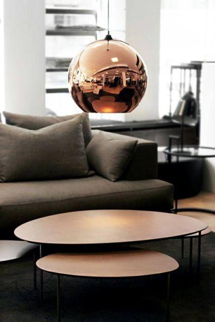 Pendente cobre esfera