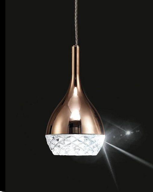 Pendente cobre de cristal
