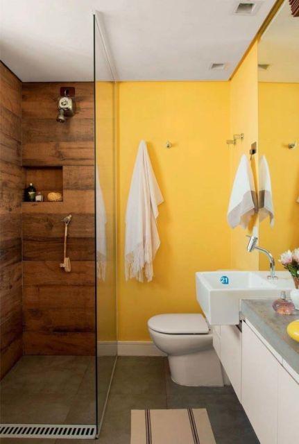 porcelanato madeira no banheiro