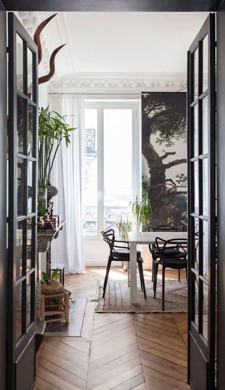 porta francesa preta