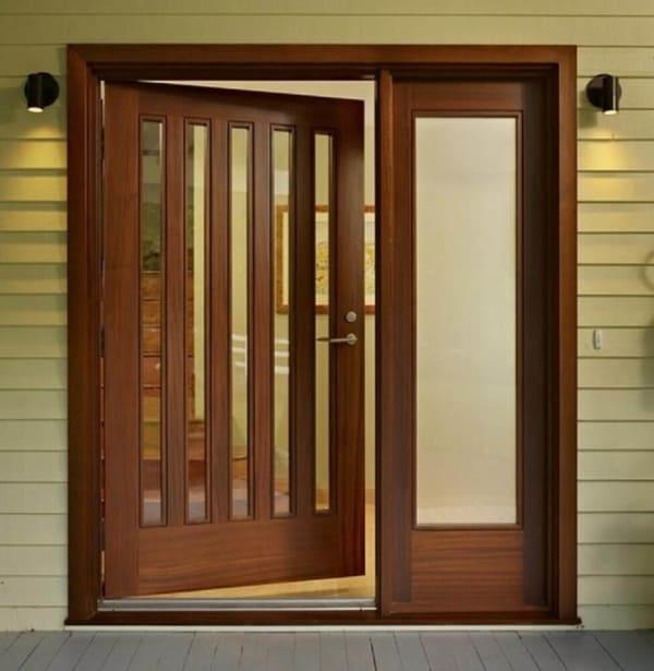 porta francesa de madeira