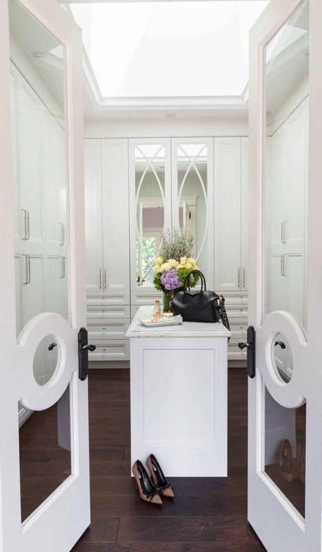 porta francesa branca