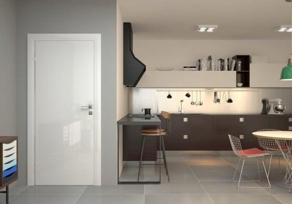porta para cozinha branca