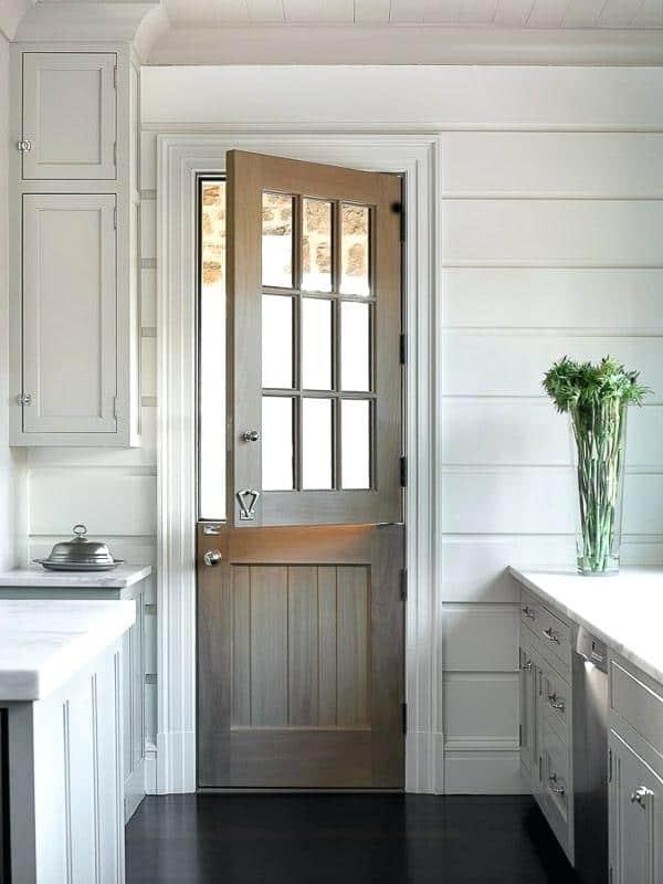 porta francesa para cozinha de madeira