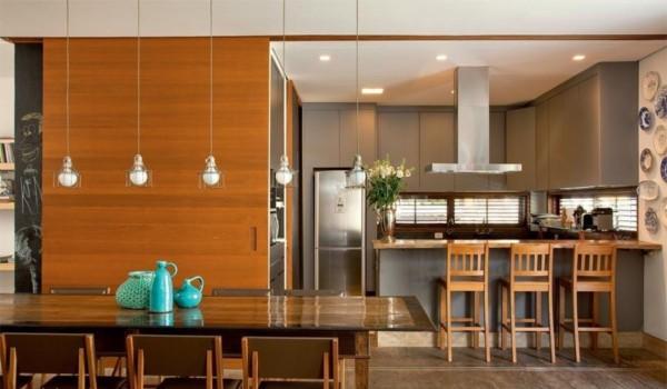 porta de madeira para cozinha