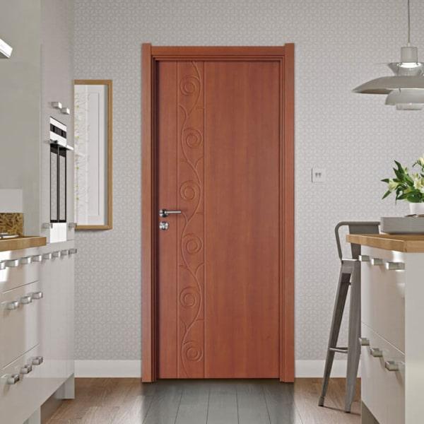 porta simples de madeira para cozinha