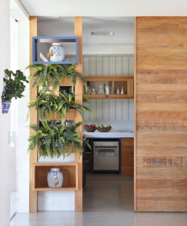 porta de madeira maciça para cozinha