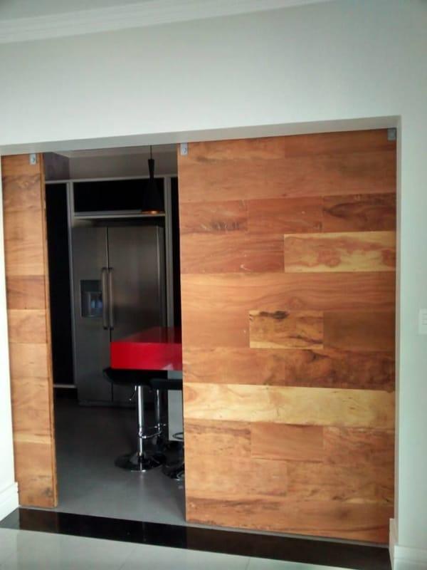 porta para cozinha de madeira