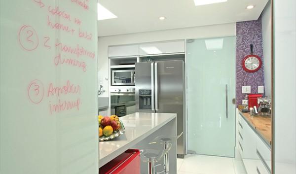 Porta para cozinha de vidro