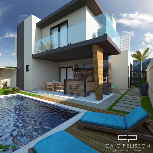 casa com piscina e área gourmet