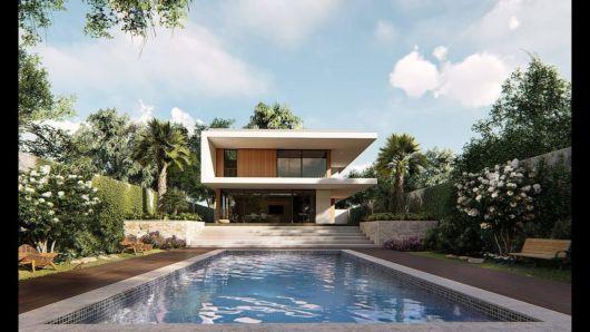 casa com piscina na praia