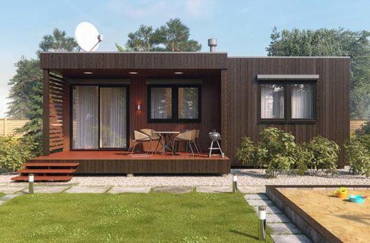 casa moderna em madeira