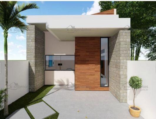 casa pequena com fachada moderna