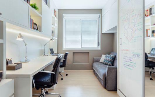 Sofá para escritório com 2 lugares