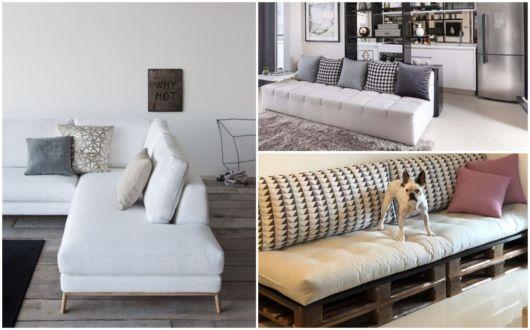Ideias de sofás sem braço