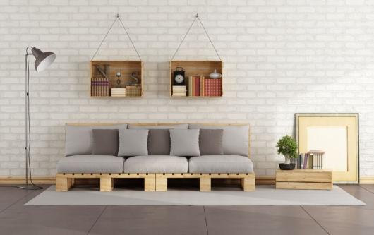Decoração com sofá sem braço
