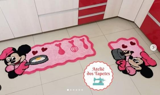 tapete Minnie cozinha