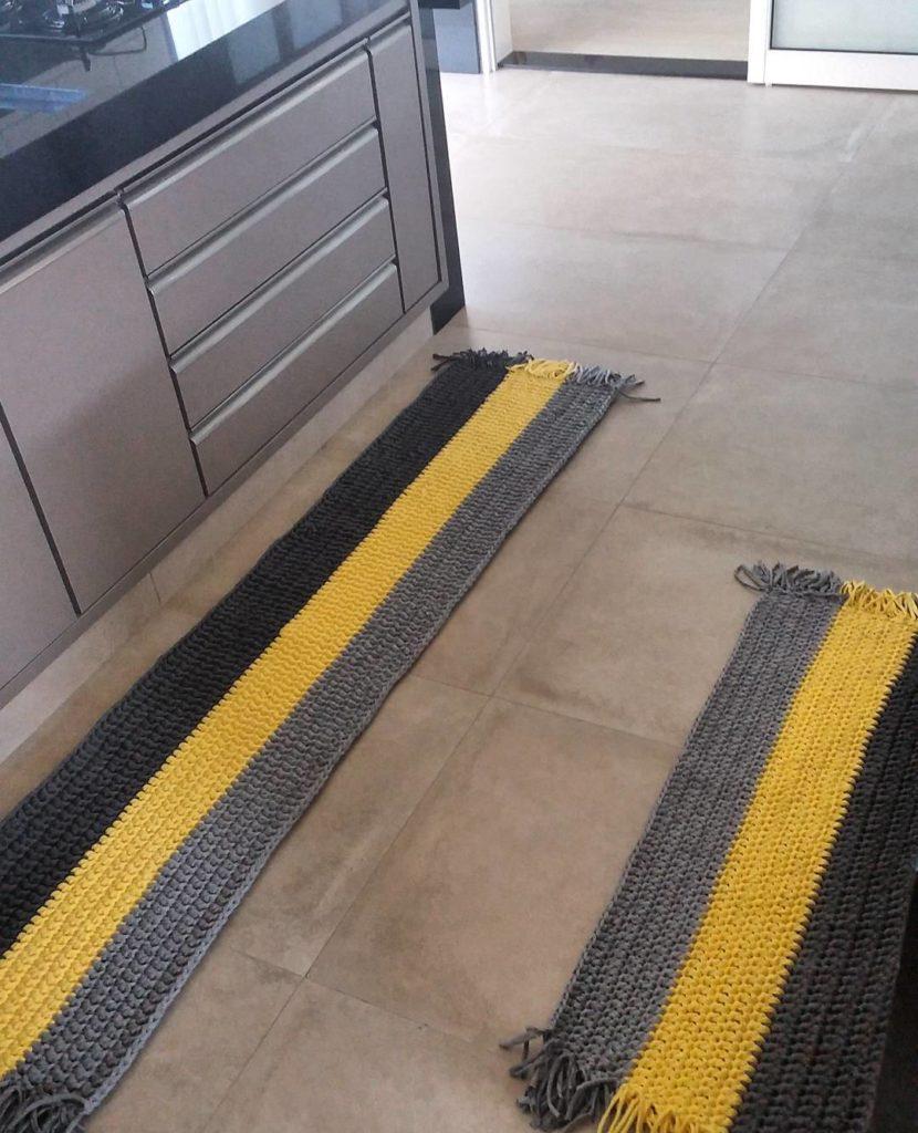 tapete moderno crochê