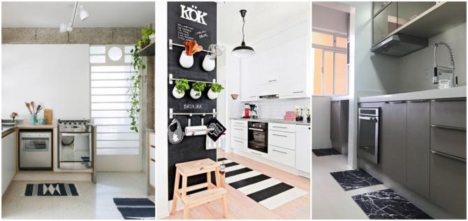 modelos de tapete preto e branco