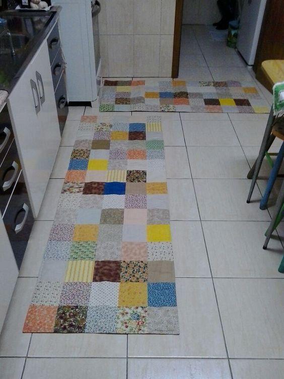tapete colorido de retalhos
