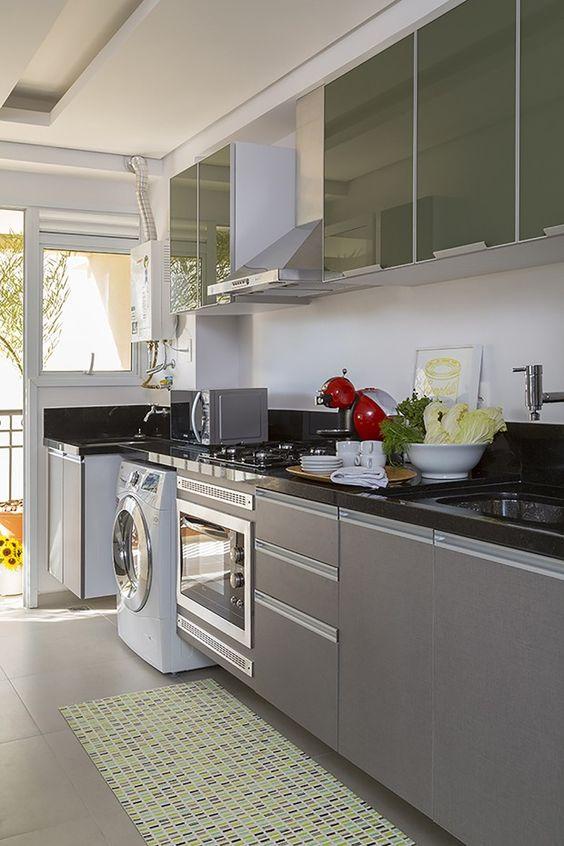 cozinha com lavandeira