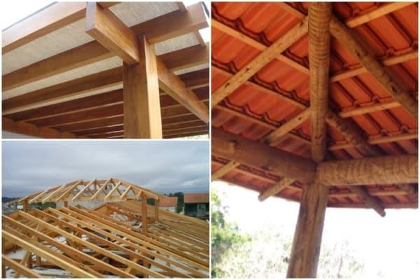 tipos de madeira para telhado