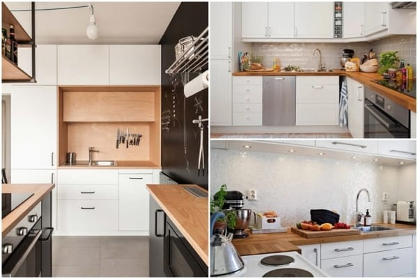 ideias para bancada de cozinha em madeira