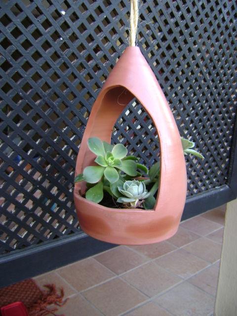 Vasos para suculentas pendentes
