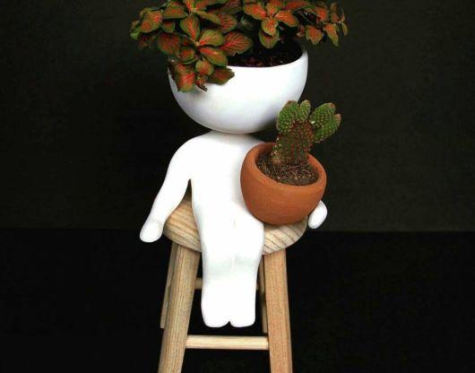 Vasos para suculentas de boneco