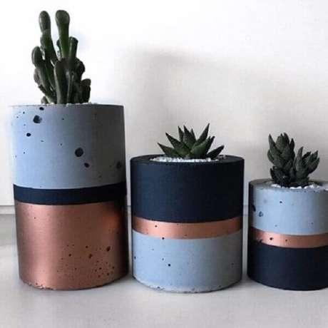 Vasos de cimento para suculentas