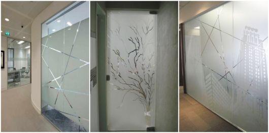 modelos de vidro com desenho