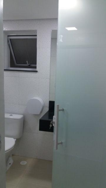 porta de vidro branco