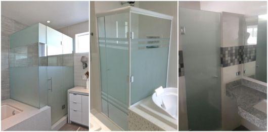 vidro jateado para banheiro