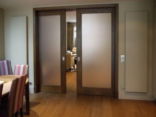porta de correr com madeira