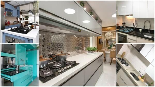 cozinhas com fogão cooktop