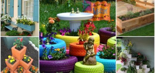 ideias de canteiros floridos