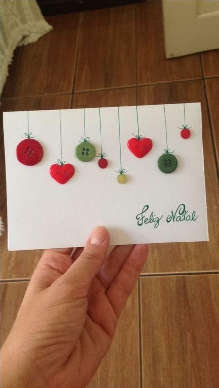 cartão artesanal simples