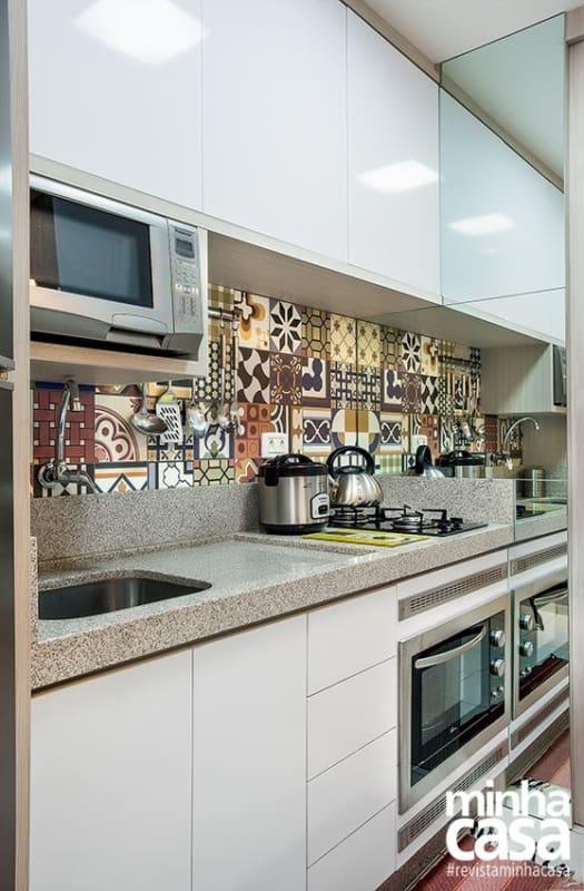 cozinha com cooktop de 2 bocas
