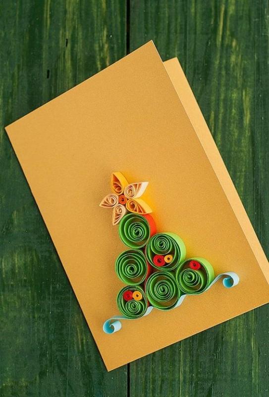 cartão criativo e artesanal