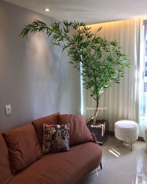 como usar planta artificial na decoração