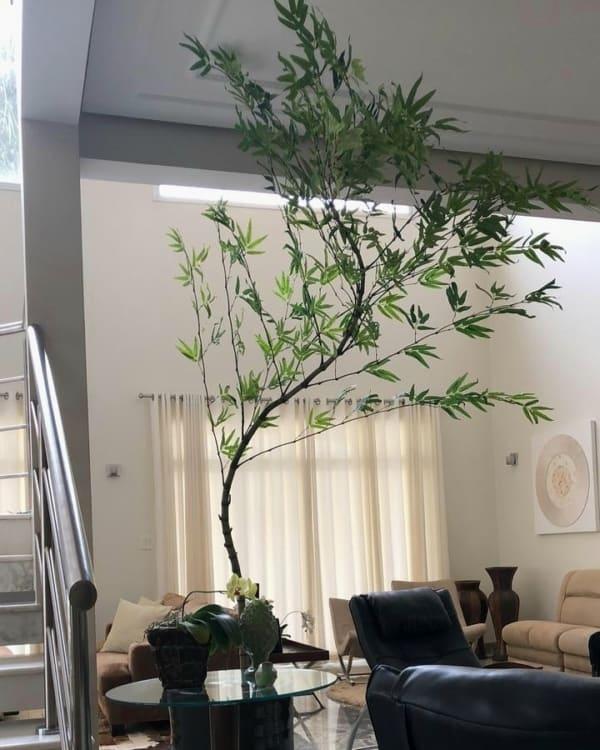 decoração com bambu mossô artificial