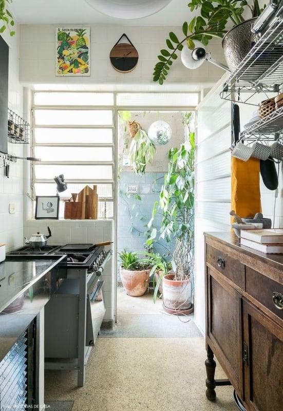 cozinha retrô pequena