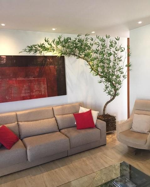 decoração com bambu de mentira