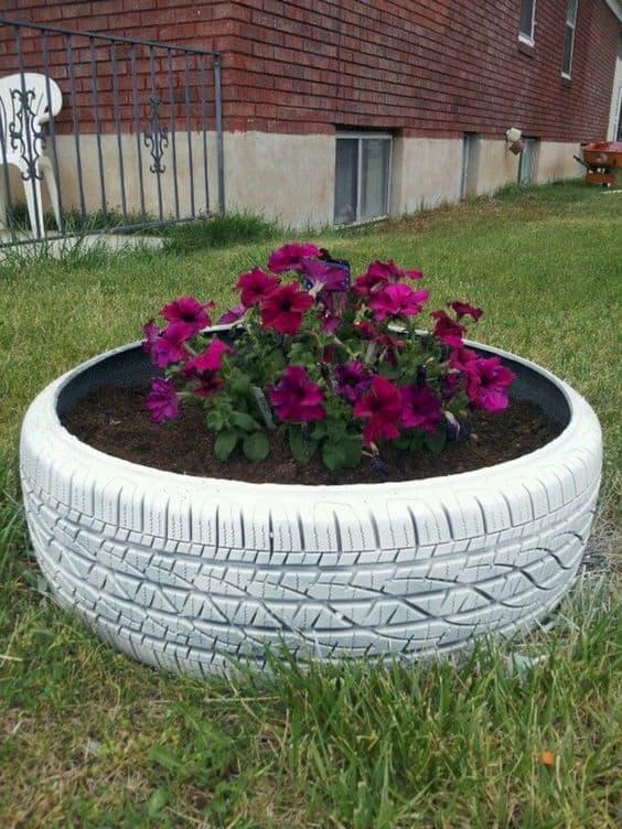 decoração com pneu