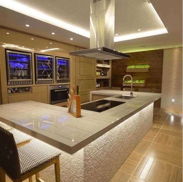 cozinha moderna com white macaúbas